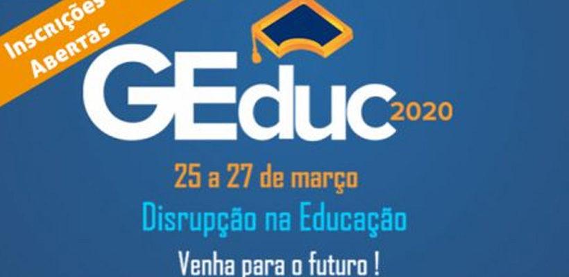 Continuam abertas as inscrições para o GEduc 2020