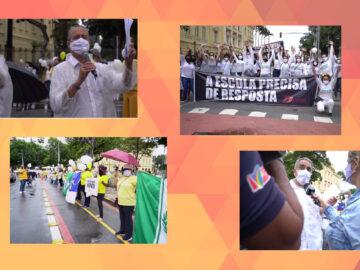 """Vídeo: manifestação """"Educação é prioridade"""""""