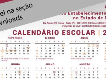 Calendário escolar 2021 já disponível