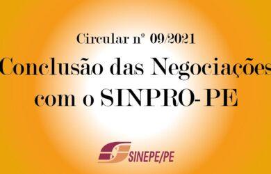 Circular nº 09/2021 – Conclusão das negociações com o Sinpro/PE